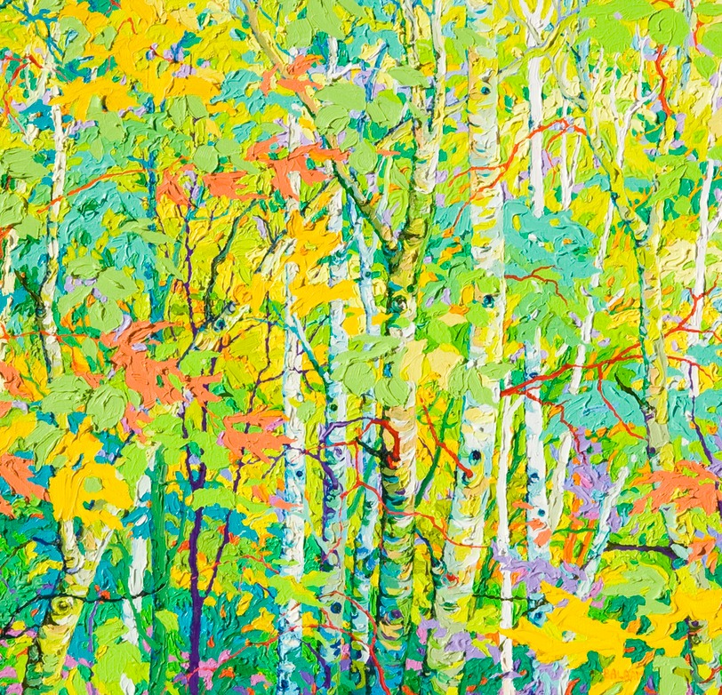 "Aspens at the Violet Hour - 24"" x 36"""