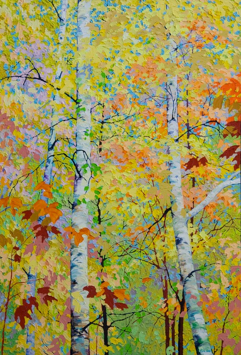 "Autumn Birches I - 44"" x 30"""