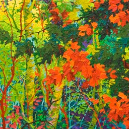 "Green Doorways - Autumn Jewelled Woodland II  - 72"" x 24"""