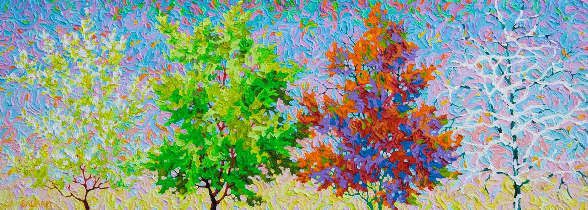 "Conversation Series - Conversation of the Seasons - 16"" x 44"""