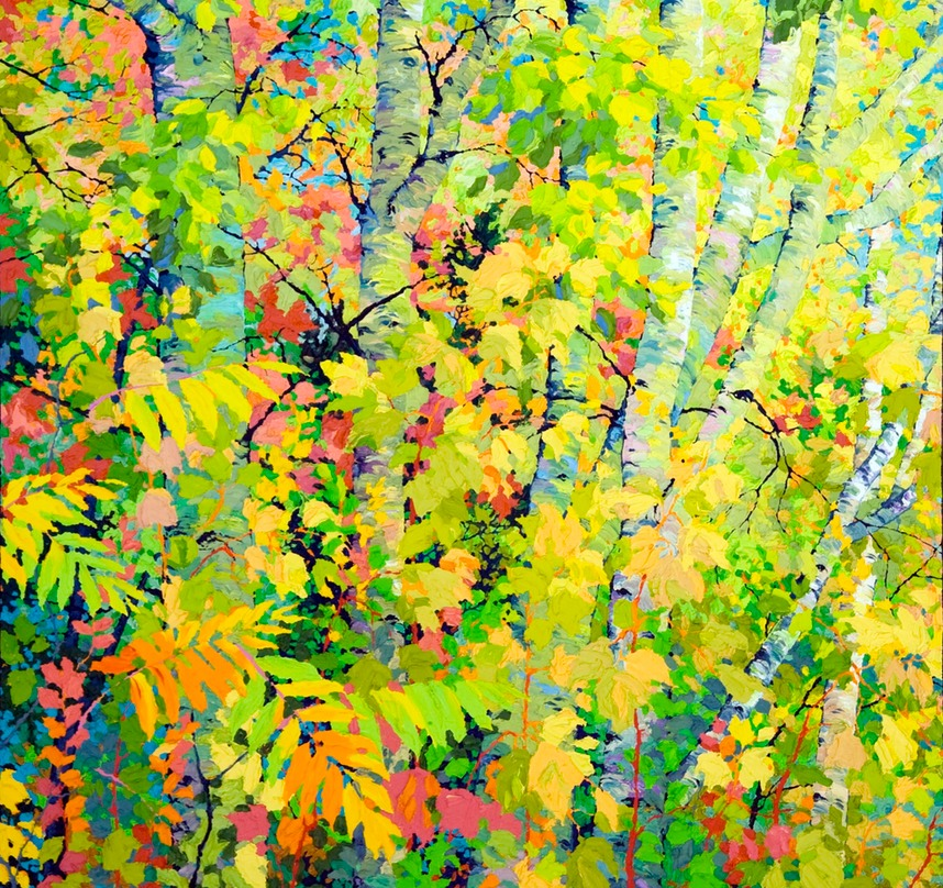 "Triptych Edge of the Forest III - 46"" x 46"""