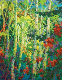 "Forest Glade Evening II  - 46"" X 36"""