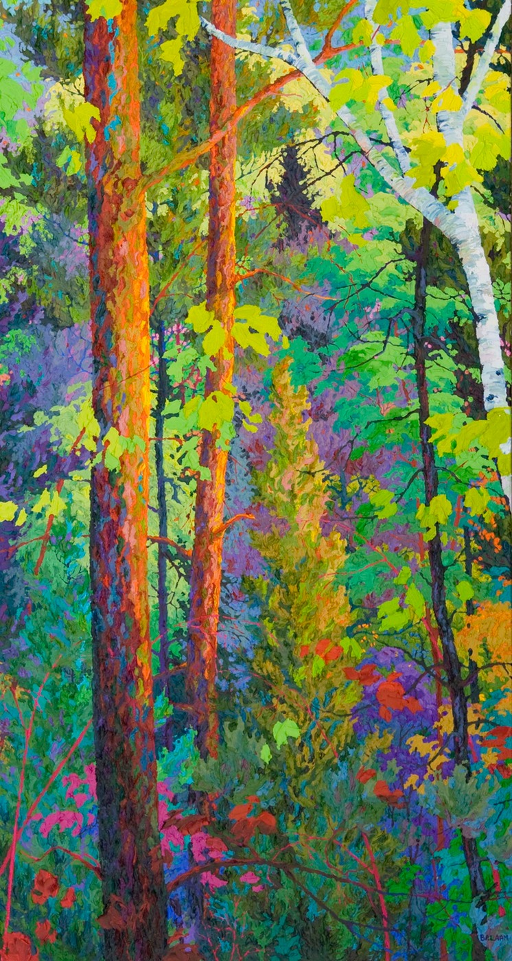 "Forest Hearts I  - 32"" x 60"""