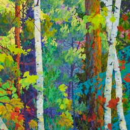 "Forest Hearts II  - 32"" x 60"""