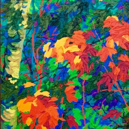 "Autumn Jewels I - 32"" x 14"""