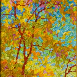 "Gem - Dance of Autumn Leaves- 9"" x 12"""