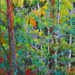 "Tall Birches I - 56"" x 30"""