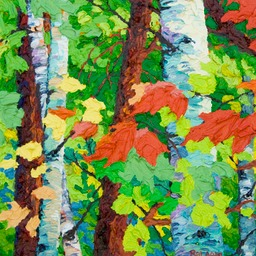 "Maples & Birches I 13"" x 13"""