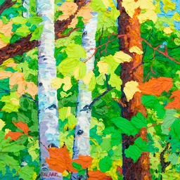 "Maples & Birches II  - 13"" x 13"""
