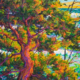 "Ocean Light Through the Trees VI - 30"" x 30"""