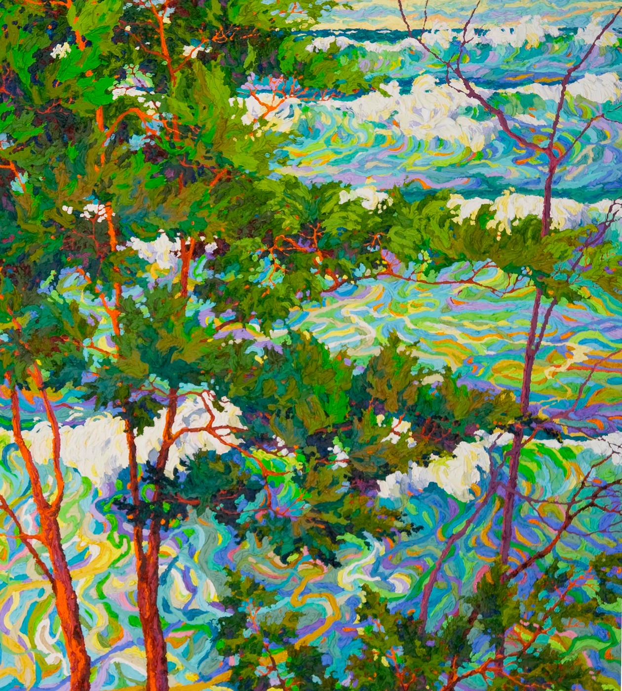 "Ocean Light Through the Trees II - 36"" x 40"""