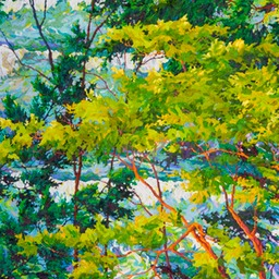 "Ocean Light Through the Trees III - 40"" x 58"""