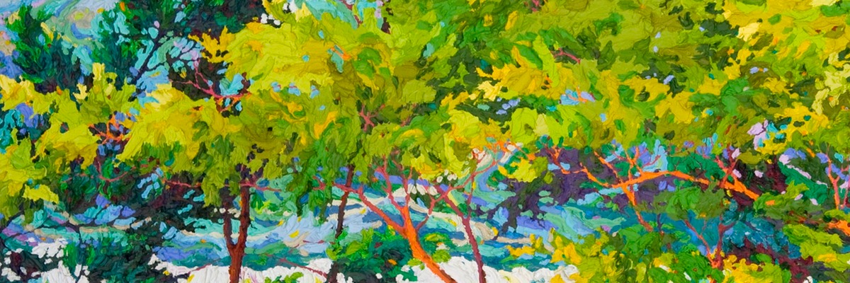 "Ocean Light Through the Trees III - 40"" x 58"" SOLD"