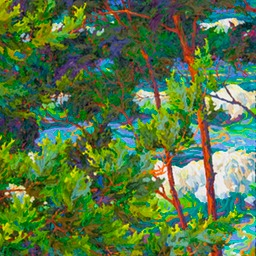 "Ocean Light Through the Trees V - 24"" x 42"""