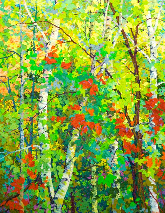 "Reaching for the Light 44"" x 56"""
