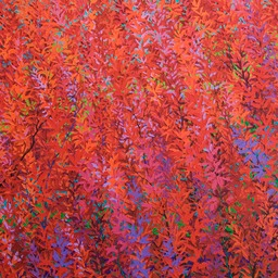 "Red Satin Tree - 46"" x 46"" - Schaffer Commission  LO"