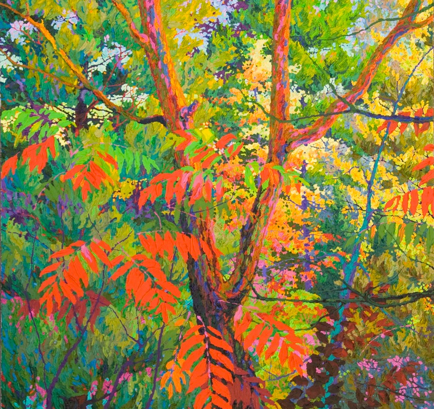 Red Sumac I - 4ft x 4ft SOLD