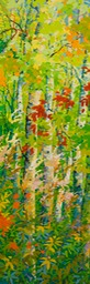 "Green Doorway- Spring Air - 72"" x 24"""