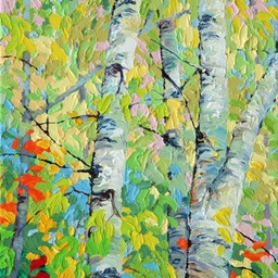 "Spring Birches IV  - 11"" x 14"""