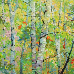 Spring Birches VIII - 2ft x 2ft