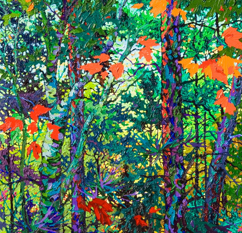 "Strawberry Forest - 36"" x 26"""