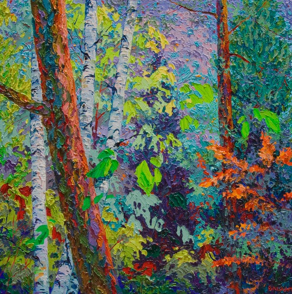 Three Birches 2 ft x 2 ft LO
