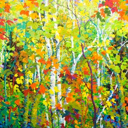 "Aspens and Birches  - 40"" x 46"""